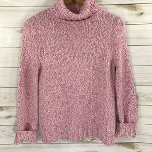 Ann Taylor Pink Cream Wool Blend Sweater, Large